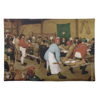 Peasant Wedding by Pieter Bruegel the Elder Cloth Placemat
