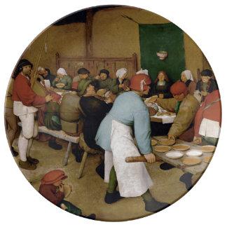 Peasant Wedding by Pieter Bruegel the Elder Dinner Plate