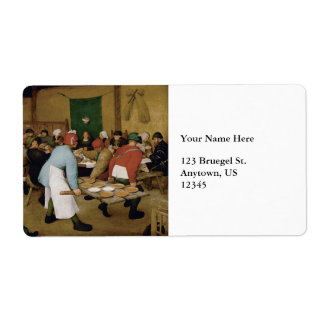 Peasant Wedding by Pieter Bruegel the Elder Shipping Label