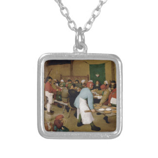 Peasant Wedding by Pieter Bruegel the Elder Personalized Necklace