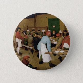 Peasant Wedding by Pieter Bruegel the Elder Pinback Button