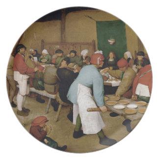 Peasant Wedding by Pieter Bruegel the Elder Plate