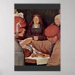 Peasant Wedding Details By Bruegel D. Ä. Pieter (B Poster
