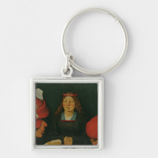 Peasant Wedding Silver-Colored Square Keychain