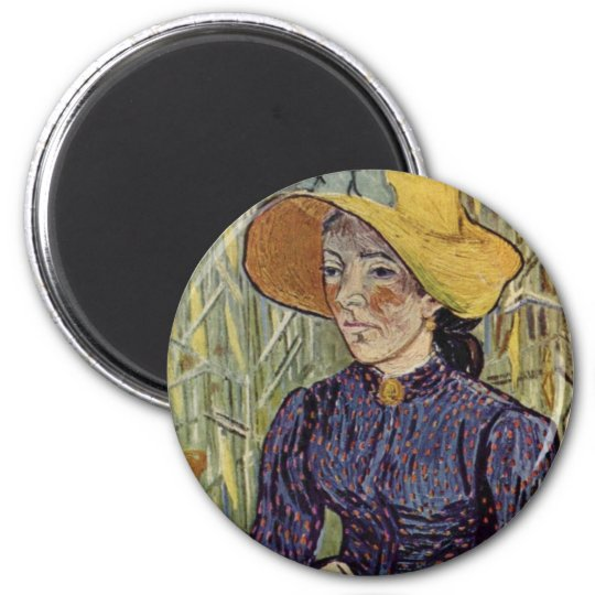 Peasant Woman Against Background of Wheat Van Gogh Magnet
