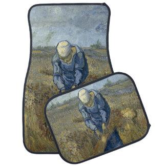 Peasant Woman Binding Sheaves by Vincent Van Gogh Car Mat