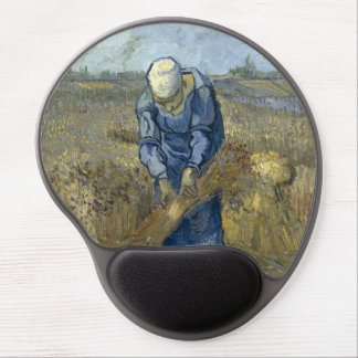 Peasant Woman Binding Sheaves by Vincent Van Gogh Gel Mouse Pad