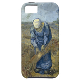 Peasant Woman Binding Sheaves by Vincent Van Gogh iPhone SE/5/5s Case