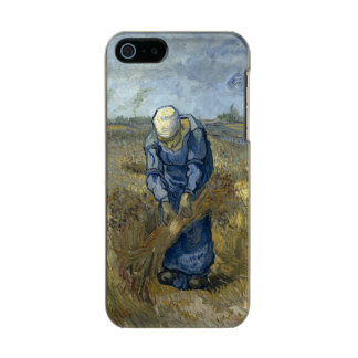 Peasant Woman Binding Sheaves by Vincent Van Gogh Metallic Phone Case For iPhone SE/5/5s