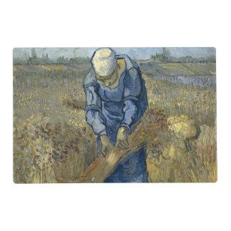 Peasant Woman Binding Sheaves by Vincent Van Gogh Laminated Place Mat