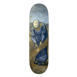 Peasant Woman Binding Sheaves by Vincent Van Gogh Skateboard