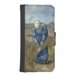 Peasant Woman Binding Sheaves by Vincent Van Gogh Wallet Phone Case For iPhone SE/5/5s