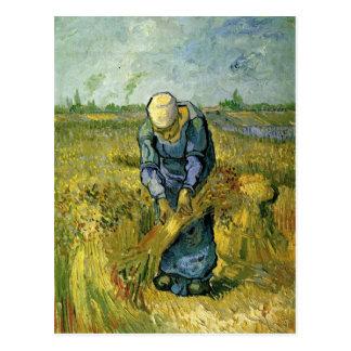 Peasant Woman Binding Sheaves, Vincent van Gogh Postcard