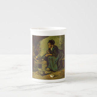 Peasant Woman Cooking by a Fireplace by Van Gogh Tea Cup