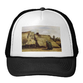 Peasant Woman Digging in Front of Her Cottage  Vin Mesh Hats