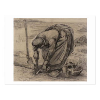 Peasant Woman Planting Beets, Vincent van Gogh Postcard
