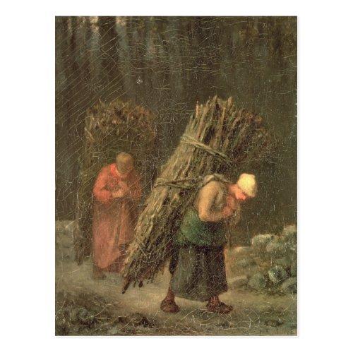 Peasant Women with Brushwood c1858 Postcard