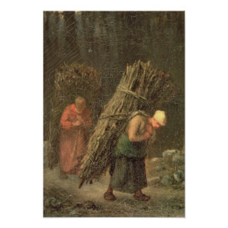 Peasant Women with Brushwood, c.1858 Poster