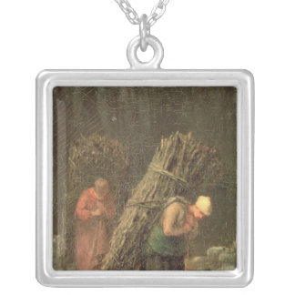 Peasant Women with Brushwood, c.1858 Silver Plated Necklace
