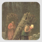 Peasant Women with Brushwood, c.1858 Square Sticker