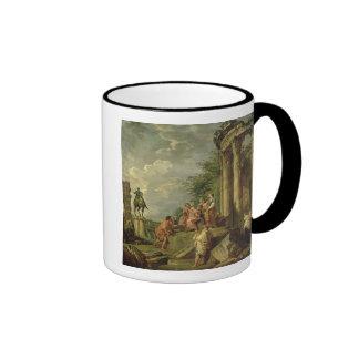 Peasants Amongst Roman Ruins, 1743 (oil on canvas) Coffee Mugs