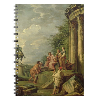 Peasants Amongst Roman Ruins, 1743 (oil on canvas) Spiral Notebook