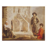 Peasants Before their House, c.1641 Poster