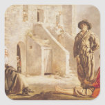 Peasants Before their House, c.1641 Square Sticker