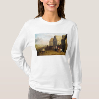 Peasants bowling in front of a tavern T-Shirt