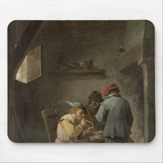 Peasants by an Inn Fire Mouse Pad