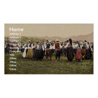 Peasants dancing, Bosnia, Austro-Hungary rare Phot Business Card