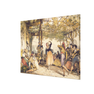 Peasants dancing the Bolero, from 'Sketches of Spa Canvas Print