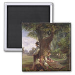 Peasants having a Siesta, 1841 2 Inch Square Magnet