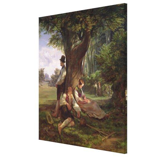 Peasants having a Siesta, 1841 Canvas Print