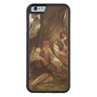 Peasants having a Siesta, 1841 Carved® Maple iPhone 6 Bumper Case