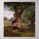Peasants having a Siesta, 1841 Poster
