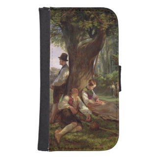 Peasants having a Siesta, 1841 Wallet Phone Case For Samsung Galaxy S4