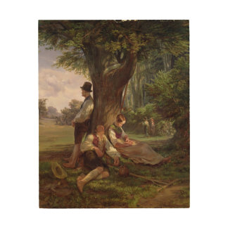 Peasants having a Siesta, 1841 Wood Wall Art
