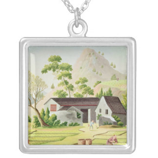 Peasants in the Paddy Fields Silver Plated Necklace