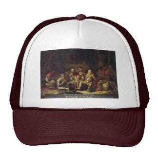 Peasants In The Tavern By Cuyp Benjamin Gerritsz. Hats