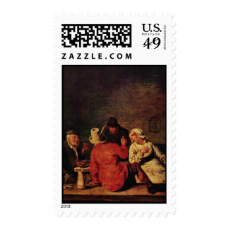 Peasants In The Tavern By Molenaer Jan Miense (Bes Postage Stamp