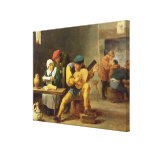 Peasants Making Music in an Inn, c.1635 Canvas Print
