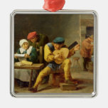 Peasants Making Music in an Inn, c.1635 Metal Ornament