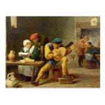 Peasants Making Music in an Inn, c.1635 Postcard
