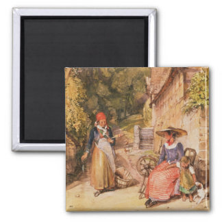 Peasants of the Black Forest 2 Inch Square Magnet