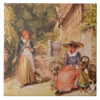 Peasants of the Black Forest Tile