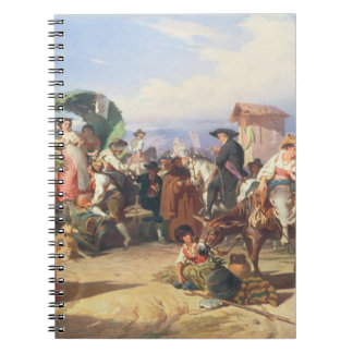Peasants of the Campagna, 1860 (oil on canvas) Spiral Notebooks