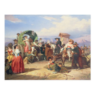 Peasants of the Campagna, 1860 (oil on canvas) Postcard