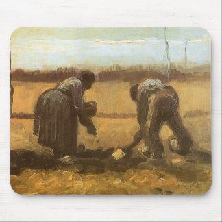 Peasants Planting Potatoes by Vincent van Gogh Mouse Pad