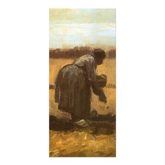 Peasants Planting Potatoes by Vincent van Gogh Rack Card